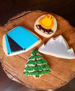 Camping Cut Sugar Cookies