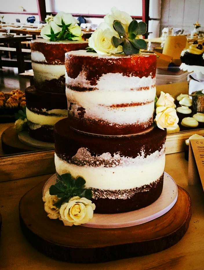 2-Tiered Naked Cake