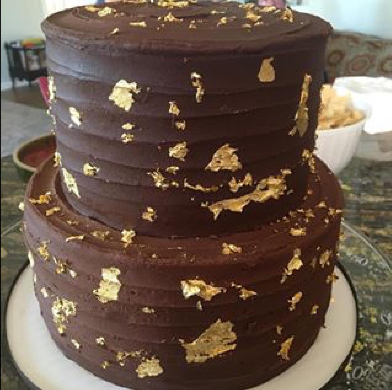 Chocolate with Gold Flecks