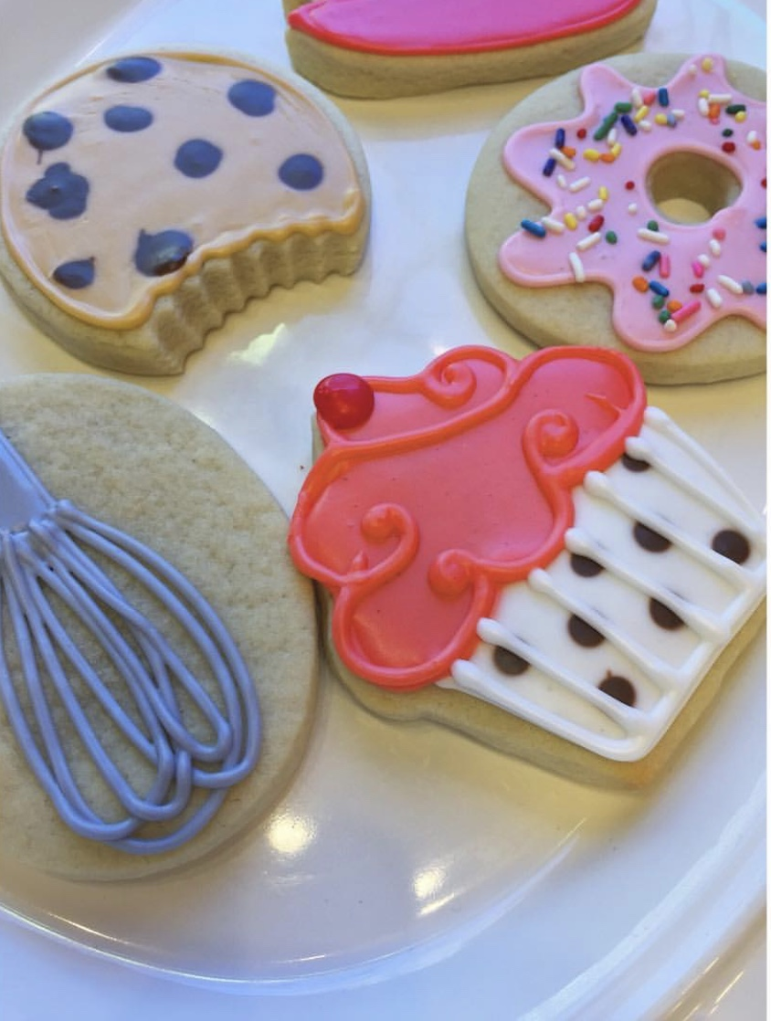Baked Treats Cut Sugar Cookies
