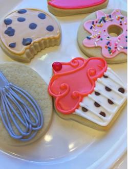 Baked Treats Cut Sugar Cookies