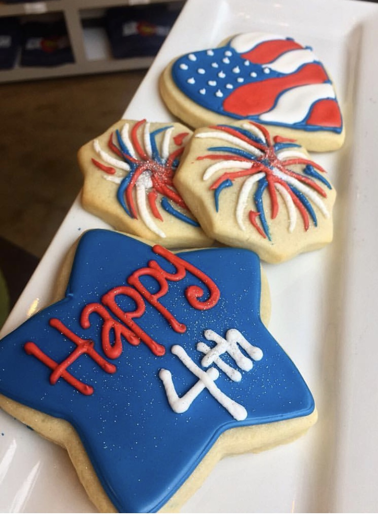 4th of July Cut Sugar Cookies