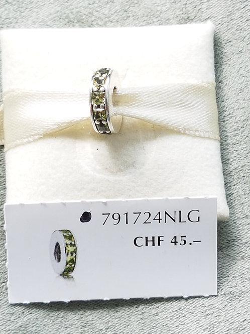 Zwischenteil, 925 SterlibgSilber mit oliv farbenen Zirkonias