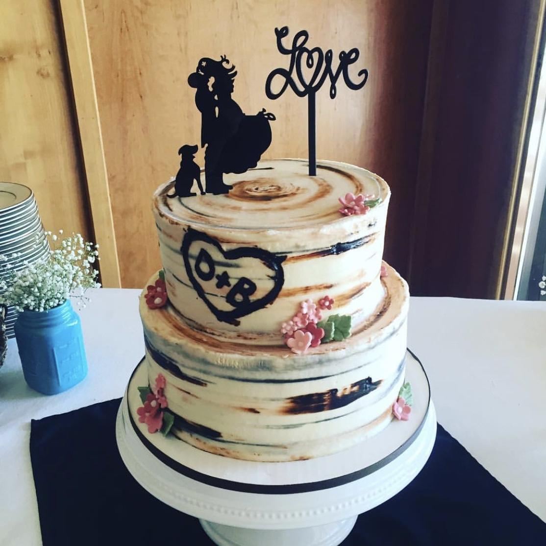 2-Tiered Birch Cake