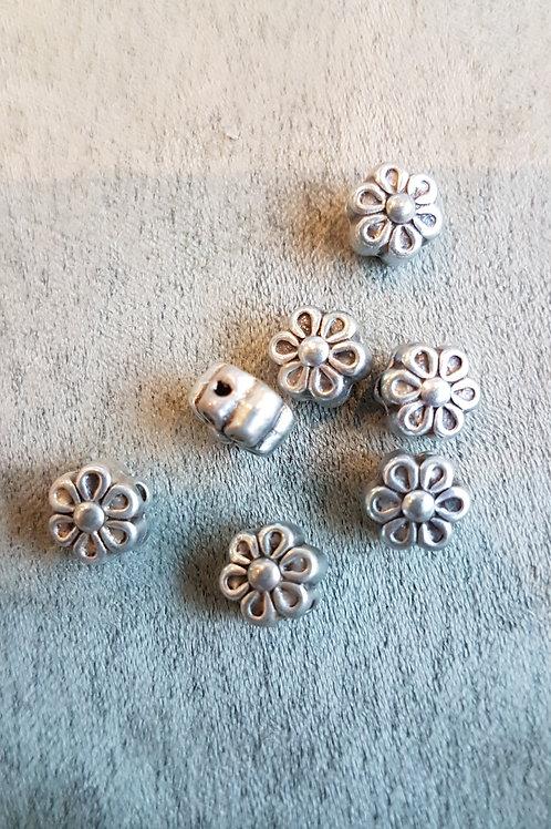 Metallzierperle Blume