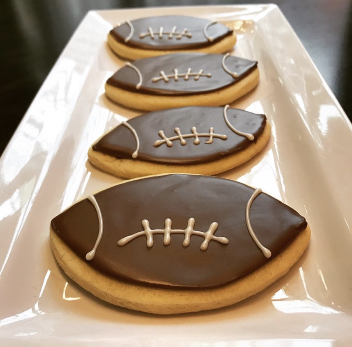 Football Cut Sugar Cookies