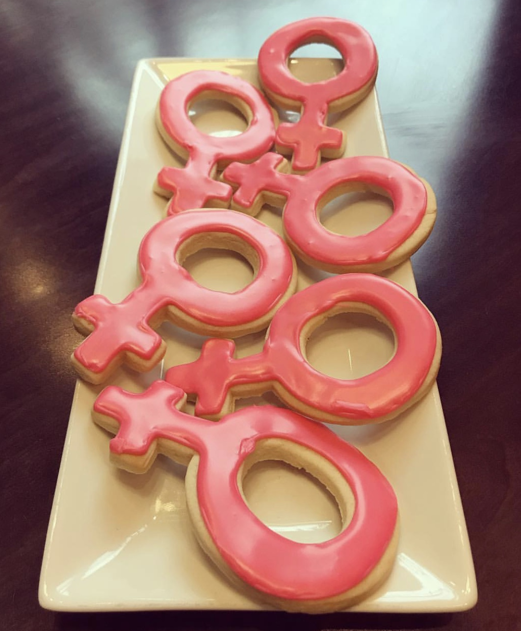 Female Power Cut Sugar Cookies