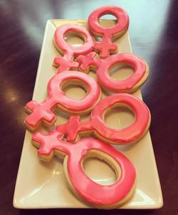 Female Power Cut Sugar Cookies