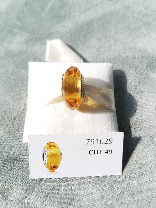 Murano, goldgelb facettiert, 925 SterlingSilber