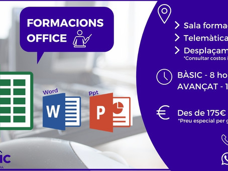 Formacions Office Excel, Word i Power Point