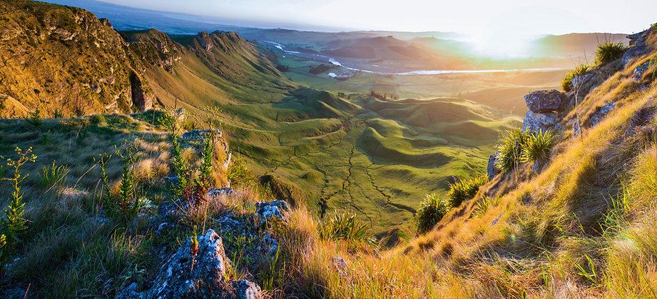 Puesta de sol en la montaña