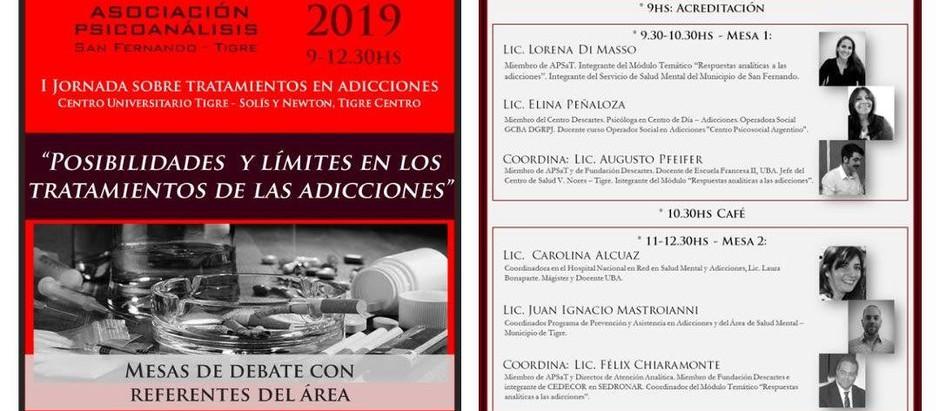 """Jornada Adicciones: """"Posibilidades y límites en los tratamientos de las adicciones"""""""