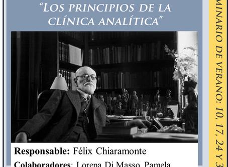"""Seminario Breve en Enero 2020: """"Los principios de la clínica analítica"""""""
