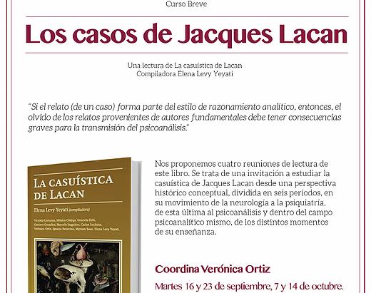Curso breve: Los casos de Jaques Lacan