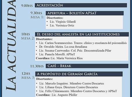 """VII Jornada APSaT: """"La actualidad del psicoanálisis"""""""
