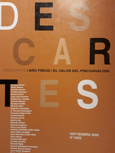 Revista Descartes N°19/20- Año Freud- El