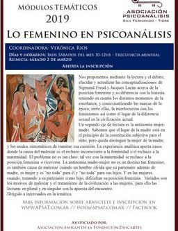"Reinicio Módulo ""Lo femenino en psicoanálisis"""