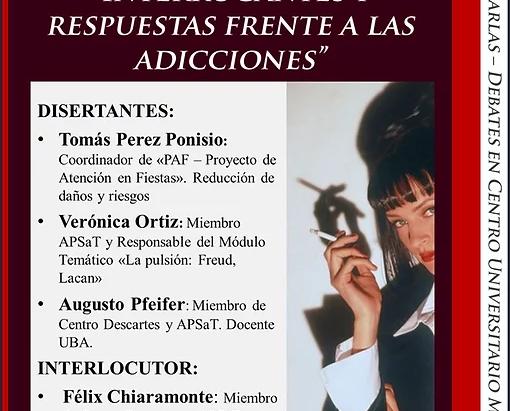 """""""Interrogantes y respuestas frente a las adicciones"""""""
