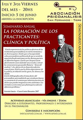 """Seminario Anual: """"La formación de los practicantes: clínica y política"""""""