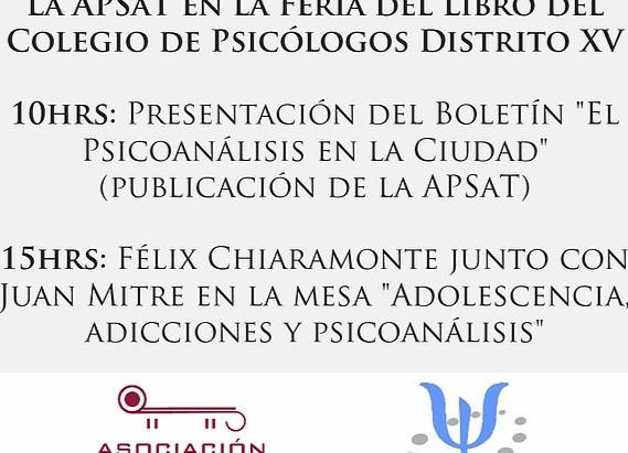 Participación de la APSaT en la Feria del Libro del Colegio de Psicólogos Distrito XV