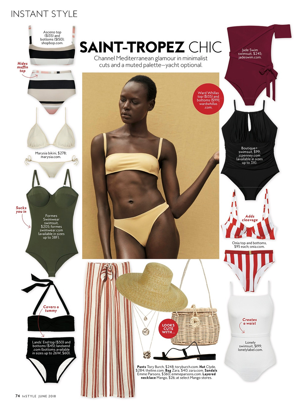Instyle Magazine June 2018 Issue- Shape Up One Piece in Olive
