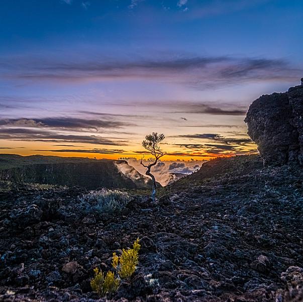 Couché de soleil au Volcan
