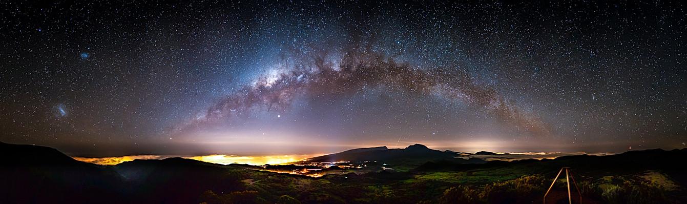 Voie Lactée depuis le volcan