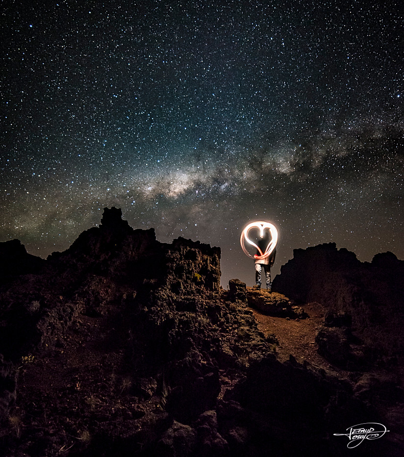 Auto portrait sous la Voie Lactée