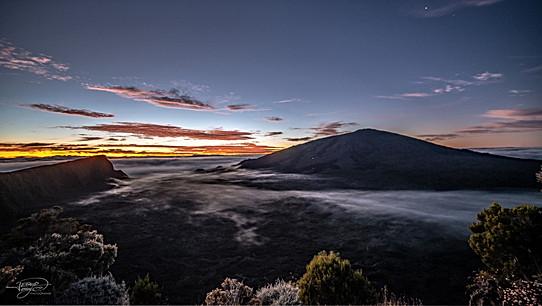 Crépuscul au volcan.