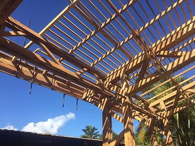 charpente, toiture sur Tahiti