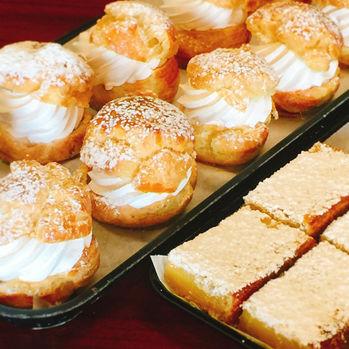 Cream Puffs & Lemon Bars