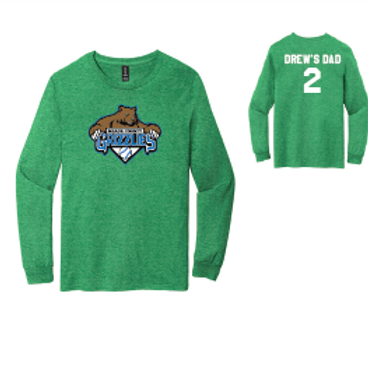 Grizzlies Baseball Long Sleeve