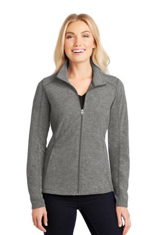 Port Authority® Ladies Heather Microfleece Full-Zip Jacket