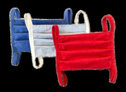 Maseczki dwustronne materiałowe -  3 sztuki