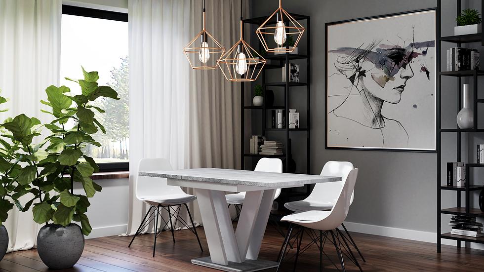 Esszimmertisch, Esstisch MA 120(160)x80x75, Farbe wählbar , Ausziehbar