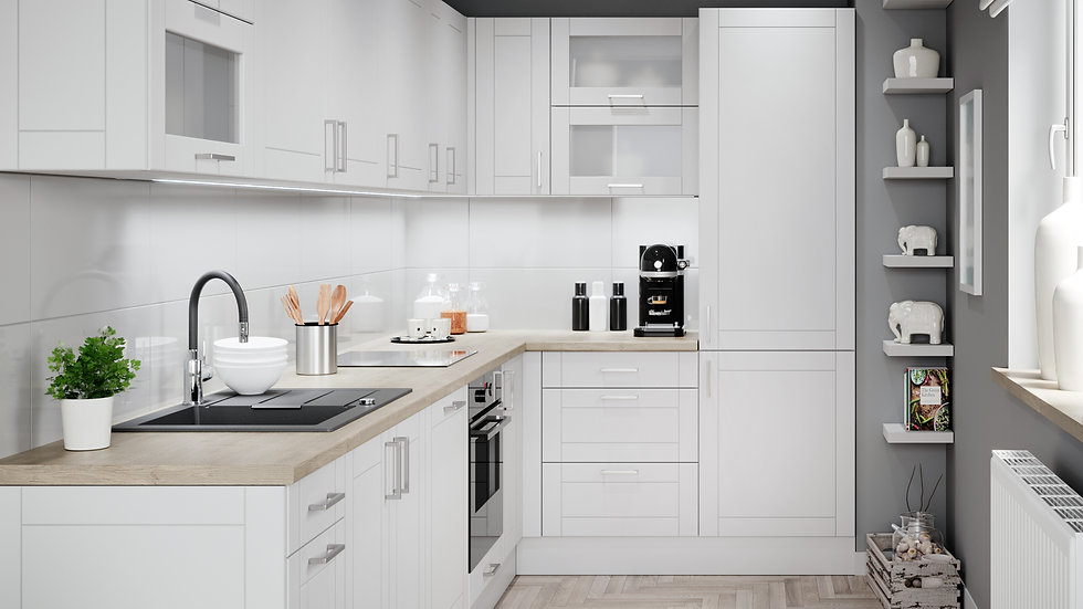 Küchenzeile ASC L-Form 185x345 cm