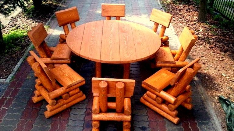 Holz Gartenmöbelsets, Terrassenset, OK8