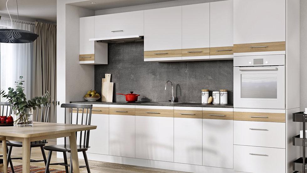 Küchenzeile 310 cm, Inkl. Arbeitsplatte