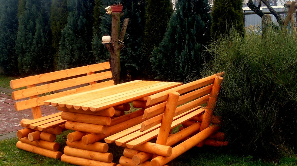 Holz Gartenmöbelsets, Terrassenset, POL