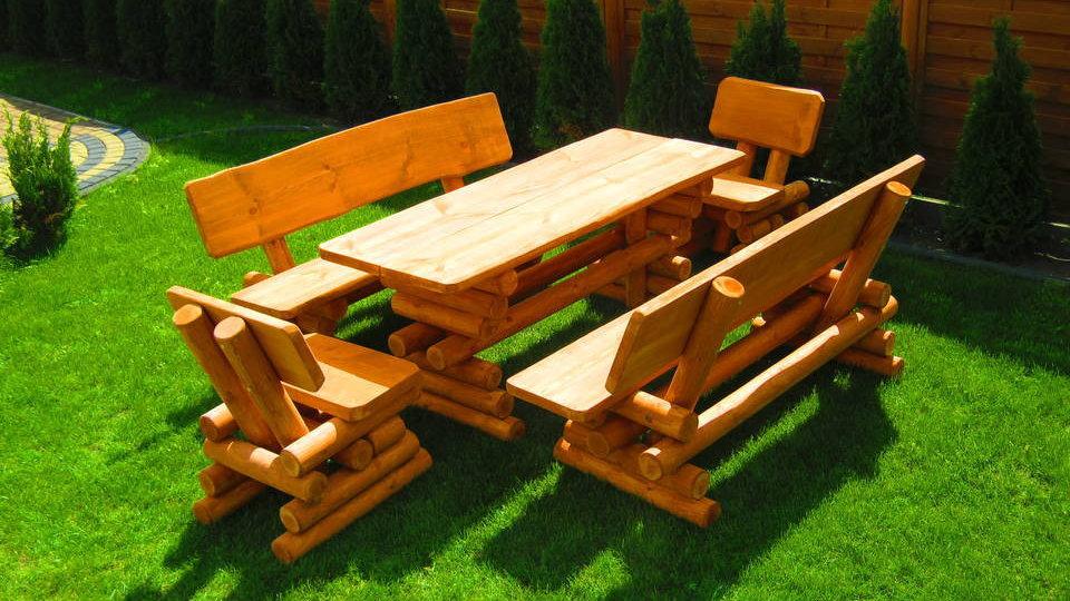 Holz Gartenmöbelsets, Terrassenset, DE + 2