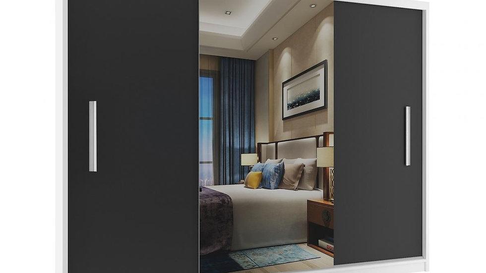 Kleiderschrank, Schwebetürenschrank ECO-SW, mit Spiegel, 235x60x218cm