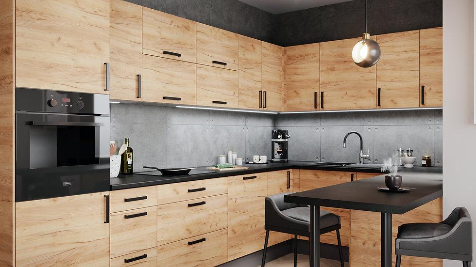 Küchenzeile U-Form 325x215x130, LU-DZ