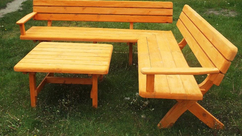 Gartenmöbel-Sets SI-A mit Eckbank