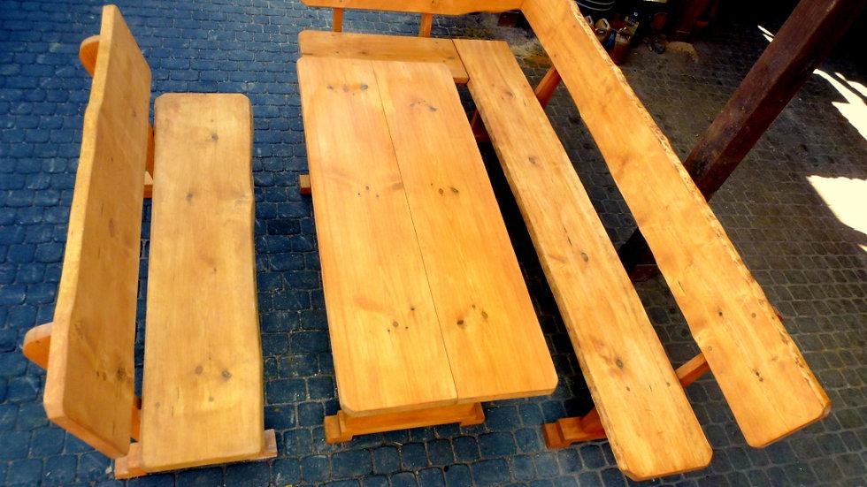Holz Gartenmöbelsets, Gartenmöbel mit Eckbank , ZN, Farbe wählbar