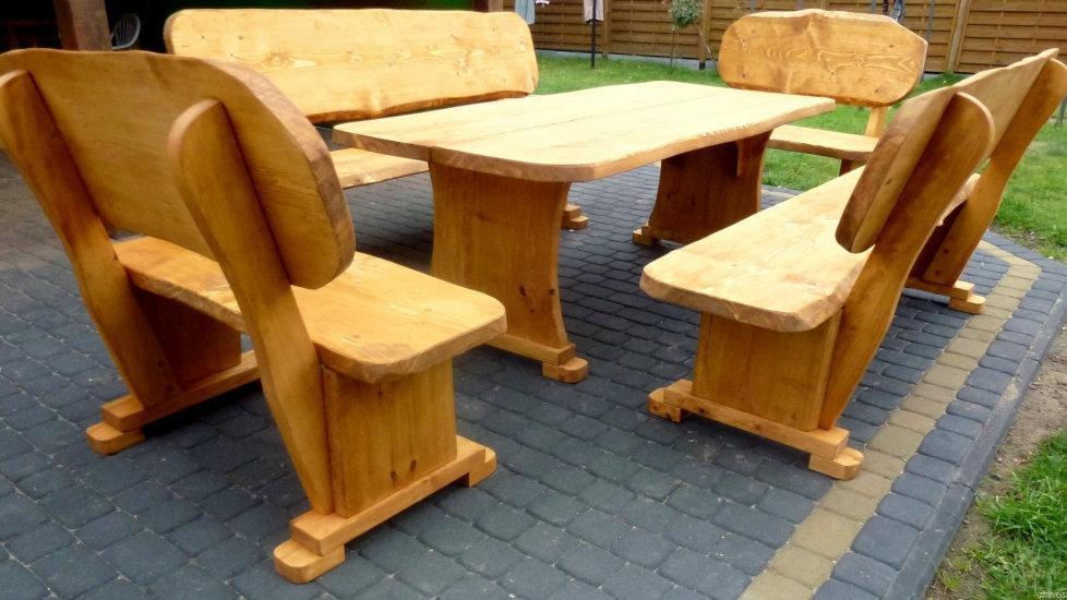 Holz Gartenmöbel, Terrassensets, Für 12 Personen