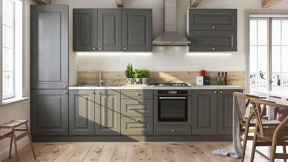 Küchenzeile 320 cm , Front Farbe Matt