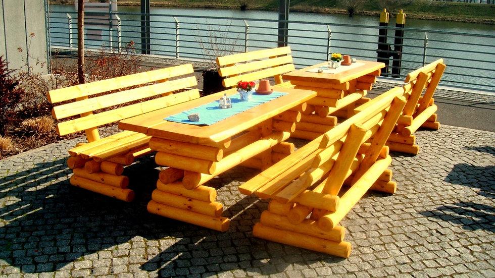 Holz Garten Sitzgarnitur , Gartenmöbel, Terrassenset, ZM