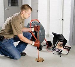 inspection camera de canalisations bouchée
