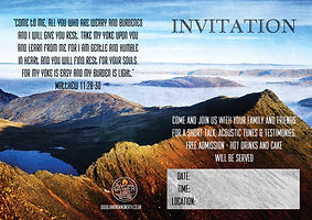 Meeting invitation flyer image