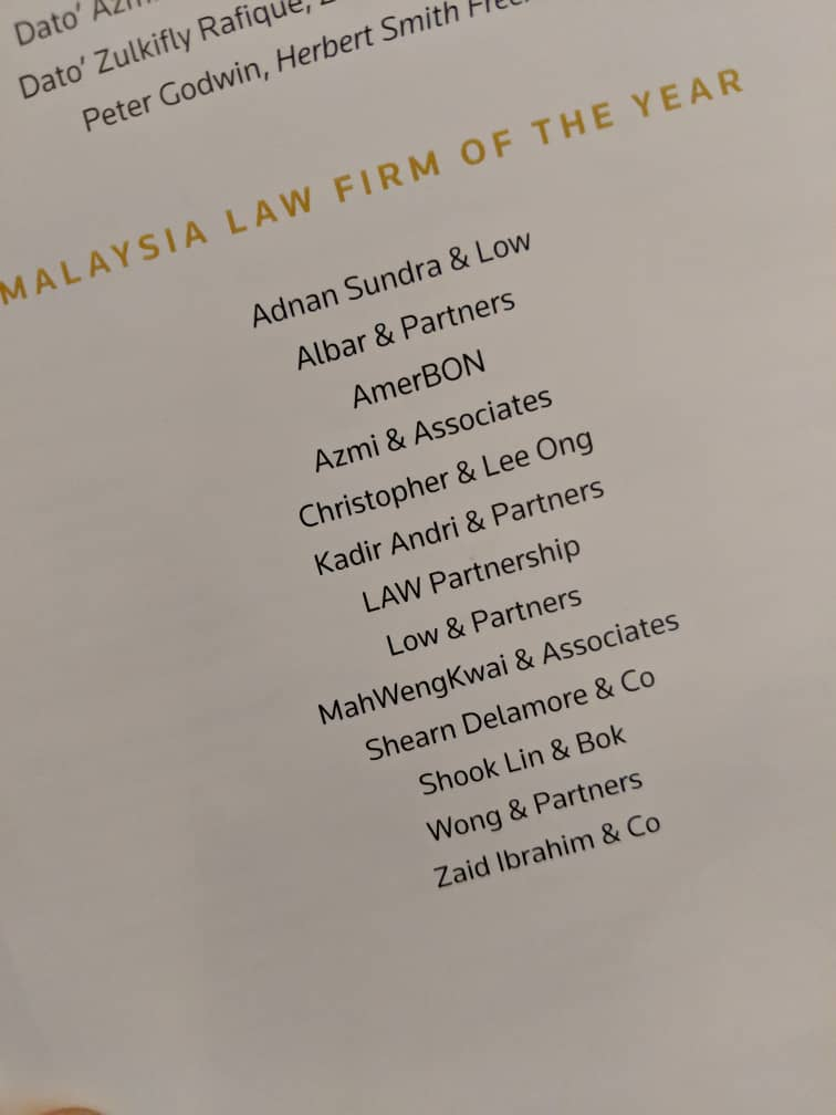 Nominees for Law firm of the year